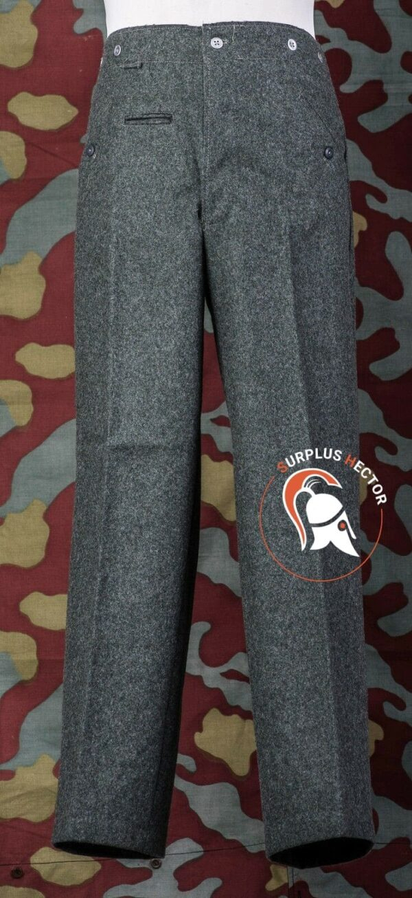 Pantalon-Uniforme-Allemand-Feldgrau-M40-WW2-German-Wool-Fied-Gris-rousers-Pants