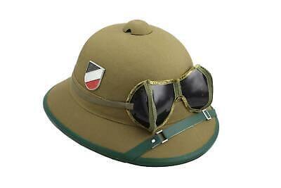 Mil-Tec-WH-Afrika-Korps-Tropenhelm-mit-Brille-Repro