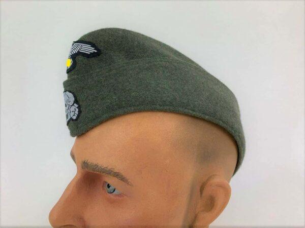 Calot-de campagne-mod 40-feldgrau-repro allemand-Waffen- SS-2 (2)